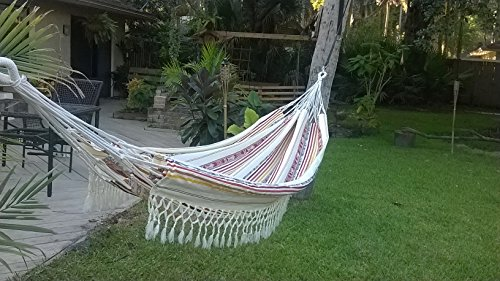 Hammock Handmade Double Size Incan Design Fair Trade (Vanilla)