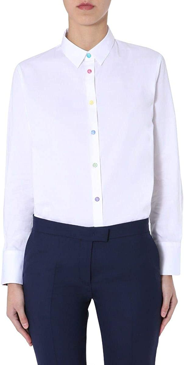 PS by Paul Smith Luxury Fashion Mujer W2R019BDE3005601 Camisa Blanca Bianco 40: Amazon.es: Ropa y accesorios
