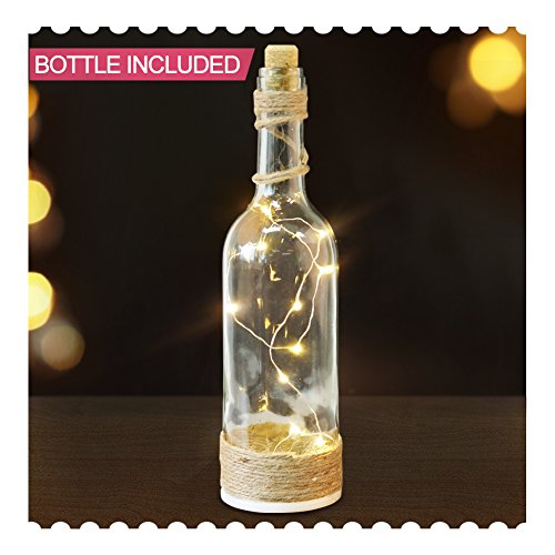 BRIGHT Bordeaux Bottle Lights Wrapped