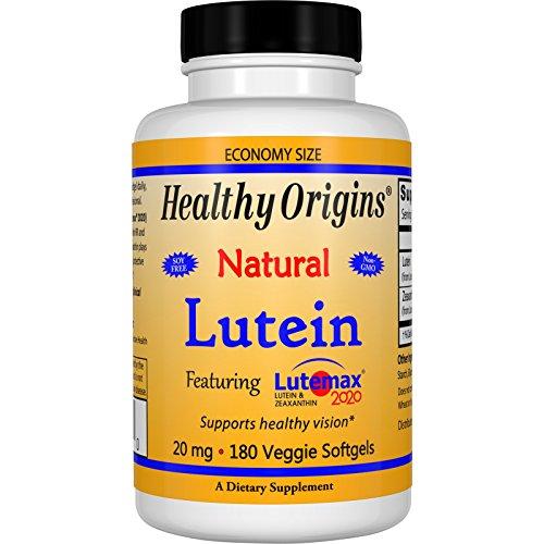 Healthy Origins, Lutein, Natural, 20 mg, 180 Veggie Softgels - 3PC by Healthy Origins