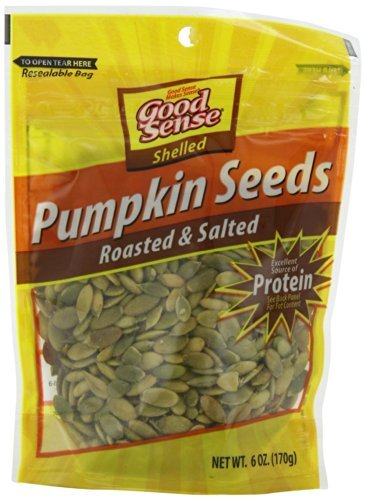 Good Sense Roasted and Salted Pumpkin Seeds, Shelled, 6-Ounce Bags (Pack of 5)