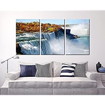 Amazon.com: 5 Panel Wall Art Niagara Falls In Daylight Painting The ...