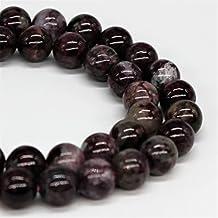 "Purple Tourmaline Gemstone Loose Beads 10mm 37 Beads Per 15.5"" Strand"
