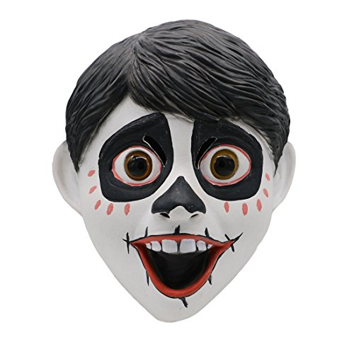 Movie Coco Miguel Latex Mask Cosplay Costume Halloween Party Props