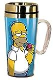 Spoontiques 17285 Homer Simpson Insulated Travel Mug, Blue