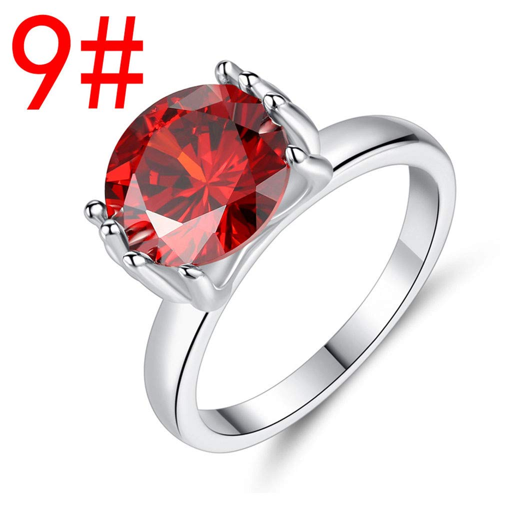 Pstars Women Party Ring Pearl Inlaid Zircon Ring Simple Round Jewelry