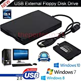 morePower2You Ultra Slim External Portable Floppy Disk Drive USB 1.44 MB Floppy Drive Ideal for Data Transfer for Laptops Desktops and Notebooks