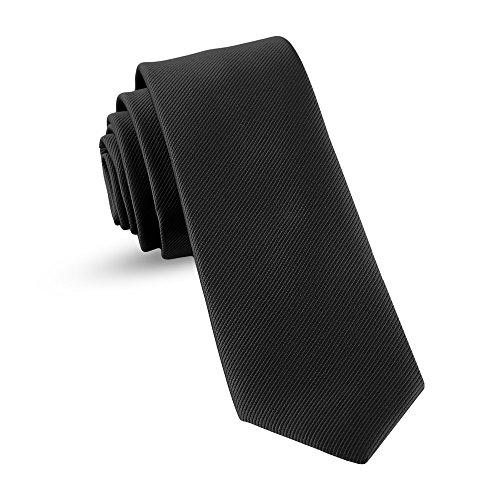 Black Kids Tie - Ties For Boys - Self Tie Woven Black Boys Ties: Neckties For Kids Formal Wedding Graduation School Uniforms