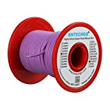Drone Repair Parts - BNTECHGO 20 Gauge Silicone Wire Spool Purple 50 feet Ultra Flexible High Temp 200 deg C 600V 20 AWG Silicone Rubber Wire 100 Strands of Tinned Copper Wire Stranded Wire for Model Battery Low Impedance