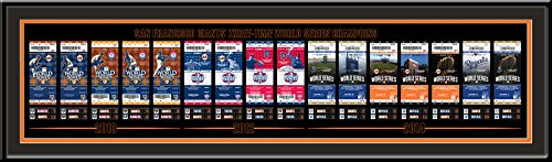 World Series Ticket Frame - San Francisco Giants 3-Time World Series Champions Tickets to History Framed Print