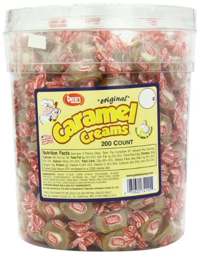 - Goetze's Caramel Creams Candy Tub, 200 Count