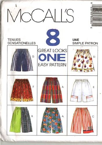McCall's Sewing Pattern 8228 Toddler Girls' & Boys' Shorts - 8 Styles, Size 2 - 4 (Sewing Patterns For Toddler Boys)