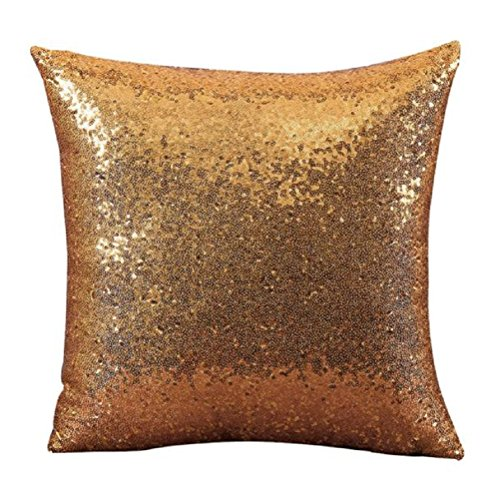 Pillow Throw Training (Throw Pillow Cases,Woaills Glitter Sequins Square Pillowcase Cushion Covers 16 x 16