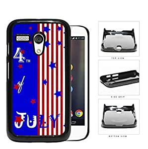 4th Of July Bright Stars And Stripes Hard Plastic Snap On Cell Phone Case Motorola Moto G