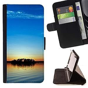 For Sony Xperia Z2 D6502 - Blue sky /Funda de piel cubierta de la carpeta Foilo con cierre magn???¡¯????tico/ - Super Marley Shop -