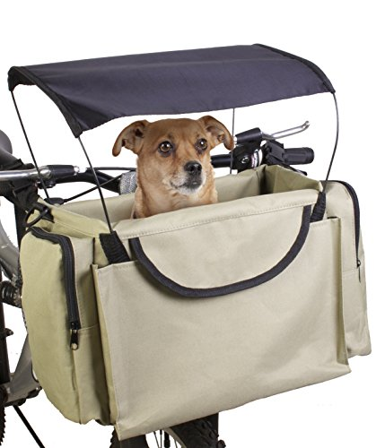 2-in-1 Pet Bike Basket Shoulder Carrier