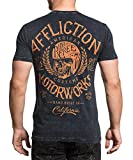 Affliction Mens AC Scenic Route Tee Shirt Black Lava Wash