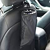 Auto Car Trash Can, Auto Litter Bag, Auto Garbage Bin, Car Trash Pail, Great for Cars, Boats & RV's Leakproof and Removable Liner-Black)