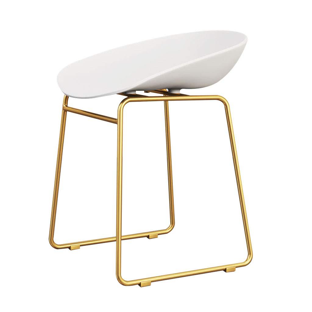 CFJRB 産業スタイルBarStool |椅子背もたれ付きPPキッチンリビングルーム用シートクッションシート高さ:45cm (色 : White PP cushion) B07MMJL4TX White PP cushion
