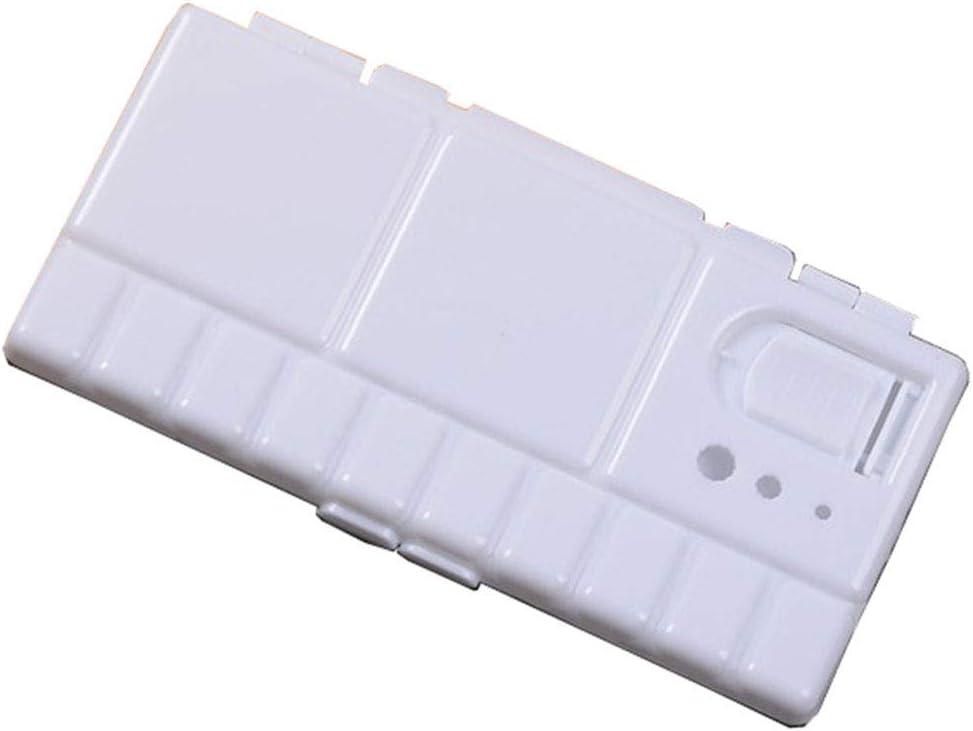 PRENKIN Dise/ño Plegable del tir/ón del Aceite Arte de la Acuarela Bandeja de Pinturas Paint Tool Box Pigmento Paleta de Dibujo del Artista
