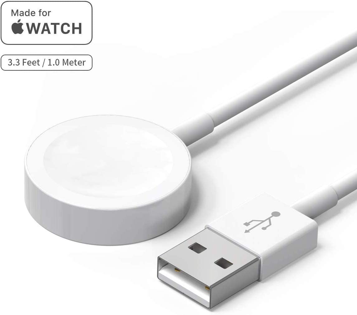 Updated Version Watch Charger, POWLAKEN Charging Cable MFi Certified Magnetic Wireless Portable Charger Charging Cable Cord Compatible for Apple Watch Series 5 4 3 2 1