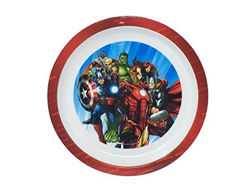 Marvel Avengers Super Hero Inspired Age of the Ultron Kids 3pc Mealtime Set! Includes Plate, Bowl & Sport Water Bottle