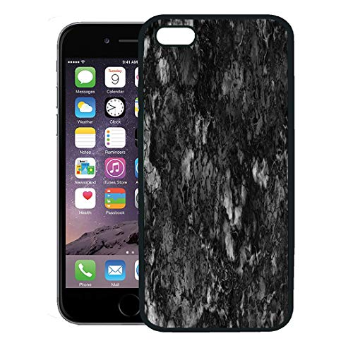 Semtomn Phone Case for iPhone 8 Plus case,Gray Granite Marble Black and White Pattern Rock Polished Wall iPhone 7 Plus case - Brown Polished Flooring