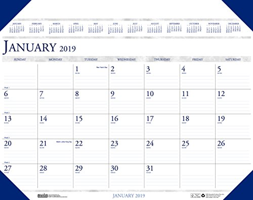 House of Doolittle 2019 Monthly Desk Pad Calendar, Executive, 24 x 19 Inches, January - December (HOD180-19)