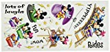 Sandylion Disney Stickers/Borders Packaged, Amusement Park Rides