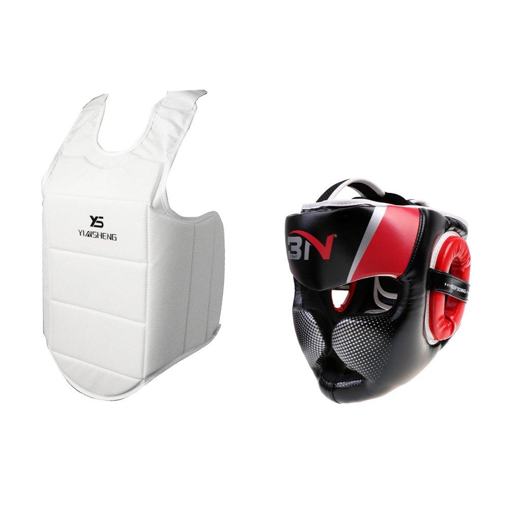 値頃 monkeyjack MMAボクシングヘッドギアヘッドガードヘルメットと胸ガードセットPretectionギア B0748CCB8W monkeyjack B0748CCB8W, 小樽市:f159ba89 --- a0267596.xsph.ru