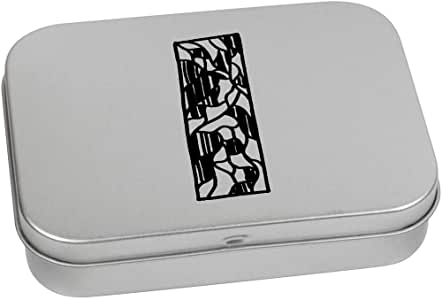 'Abstract Rectangle' Metal Hinged Tin / Storage Box (TT00131920)