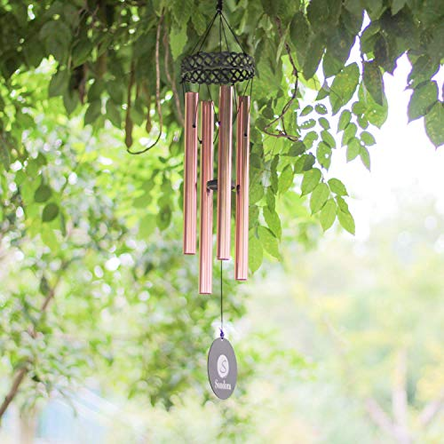 Memorial Wind Chimes Outdoor Deep Tone, Amazing Grace Tuned Wind Chimes, 30″ Unique Wind Chimes with 4 Tubes, Great as a Quality Gift or to Keep for Your own Patio, Porch, Garden, or Backyard.
