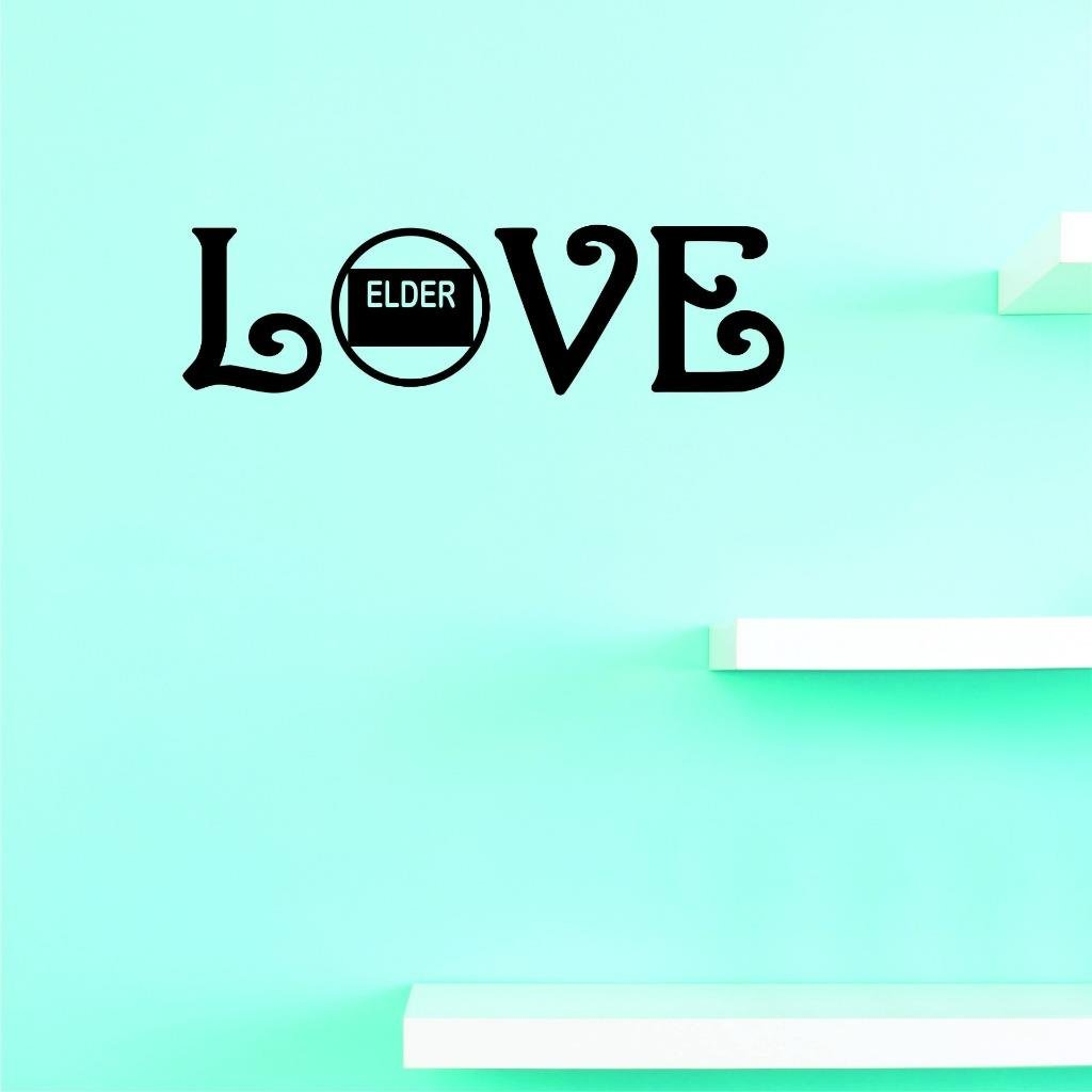 Design with Vinyl US V JER 2684 2 Top Selling Decals Love Elder Wall Art Size 8 Inches X 30 Inches Color 8 x 30, Black