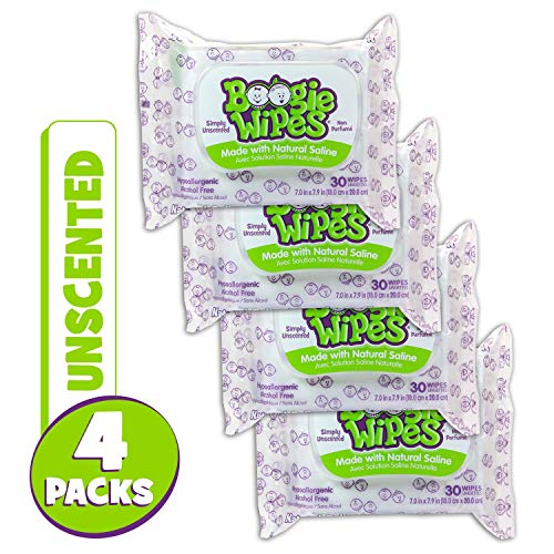 (Boogie Wipes Boogie Wipes, Unscented, 120 Count)