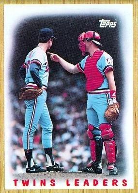 1987 Topps #206 Twins Team (Frank Viola / Tim Laudner) - Minnesota Twins (Team Leaders) (Baseball (1987 Twins Team)