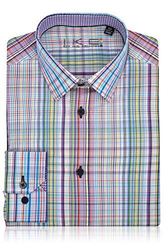 (Ike Behar Boys Fancy Shirt Purple,Teal,Yellow,White)