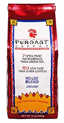 Puroast Low Acid Coffee House Blend Drip Grind, 12oz (Pack of 2) by Puroast Coffee