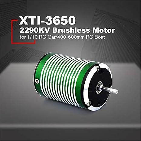 Motor sin sensor sin escobillas X-TEAM XTI-3650 2290KV 3.175 ...
