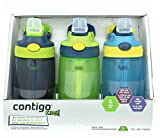 : Contigo Kids Autoseal Gizmo Water Bottles, 14oz (Nautical/School boy/ Granny Smith)