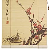 Oriental Furniture Sakura Blossom Bamboo Blinds - (36 in. x 72 in.)