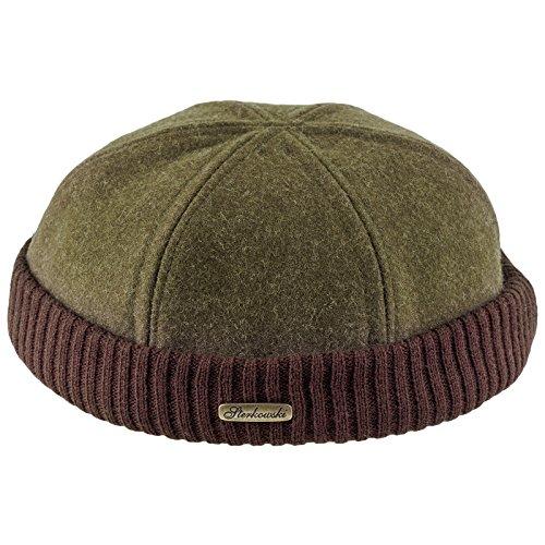 Sterkowski Wool Beanie Docker Cap US 7 1/4 Khaki/Brown (Khaki Beanie Brown)
