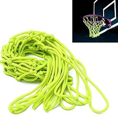 CAMTOA Glow In The Dark Basketball Net Portable Outdoor Sun Powered Sports Basketball Hoop Net Replacement for Basketball Hoop