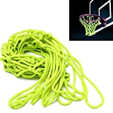 Basketball Net,CAMTOA,Glow In The Dark,Nylon,Braided Net,44x32cm/17.32x12.59 (Without Expanded),NET ONLY, FRAME OR BOARD NOT INCLUDED