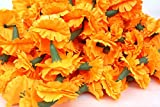 Buycrafty 5 Feet Long Strands Marigold Garlands, Flower Garland, Indian Wedding Flowers, Diwali Marigold, Set of 50+6 Free, Party Decor, Wedding, Deepavali
