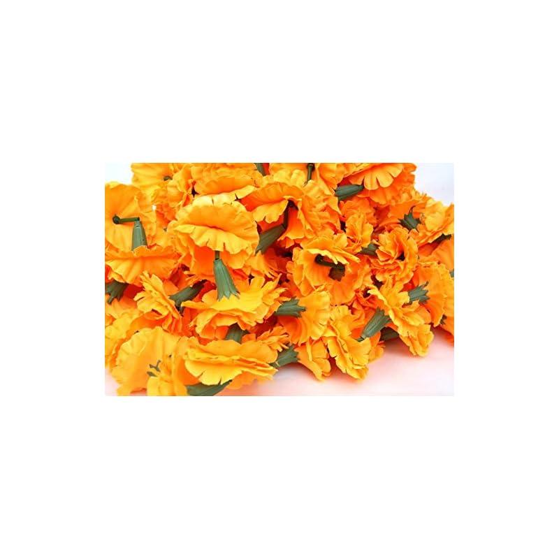 silk flower arrangements buycrafty 5 feet long strands marigold garlands, flower garland, indian wedding flowers, diwali marigold, set of 5, party decor, wedding, deepavali