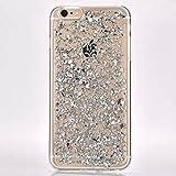 Surprise Panda iPhone 6/6S Plus Case, Soft Bling Glitter Sparkle Hybrid Bumper Case(silver)