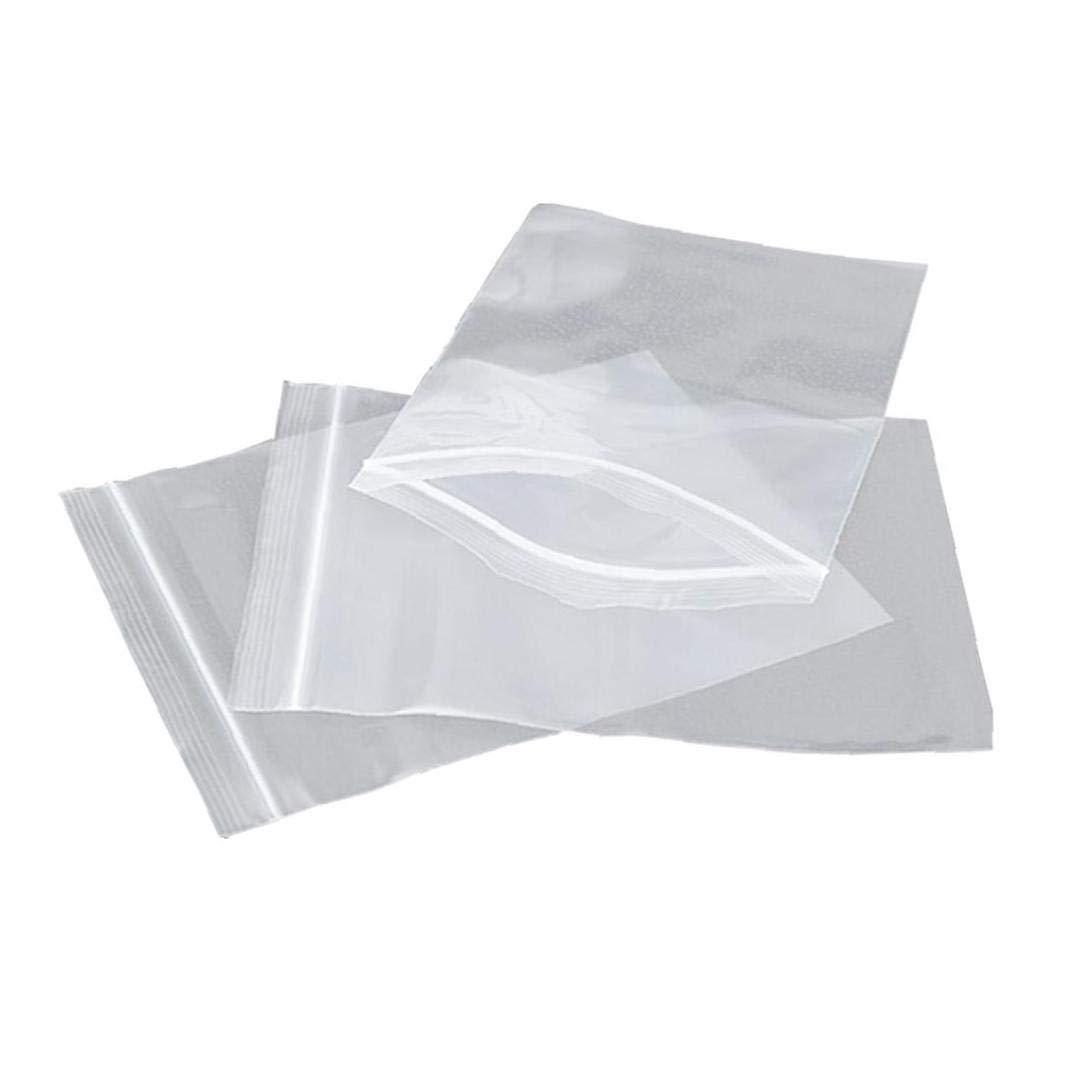 100Pcs PE Transparent Zip lock Plastic Bag Jewelry Ziplock Zip Zipped Lock Reclosable Plastic Poly Clear Bags Small Packaging Bag Size:4 6cm