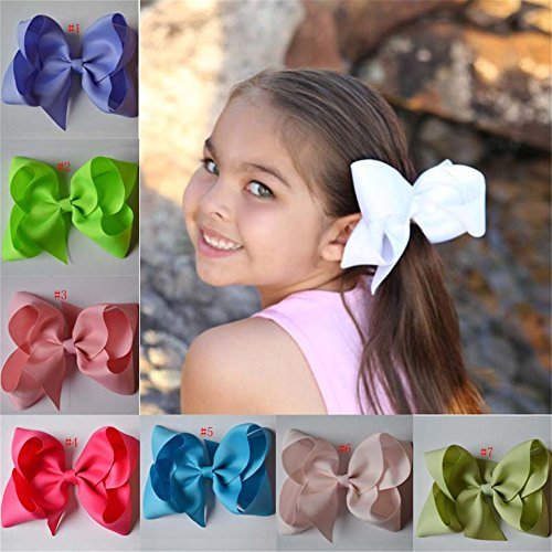 Bzybel Boutique Big Hair Bow Clips Grosgrain Ribbon Barrettes Headbands Party Hair Clips Hair Accessories for Girls Teens Women