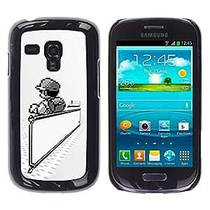 EJOY---Cubierta de la caja de protección la piel dura para el / Samsung Galaxy S3 MINI 8190 / --Mario Juegos