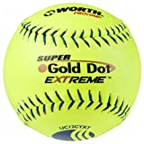 Worth Super Gold Dot Extreme Classic M Usssa Slow Pitch Softballs 12 Ball Pack